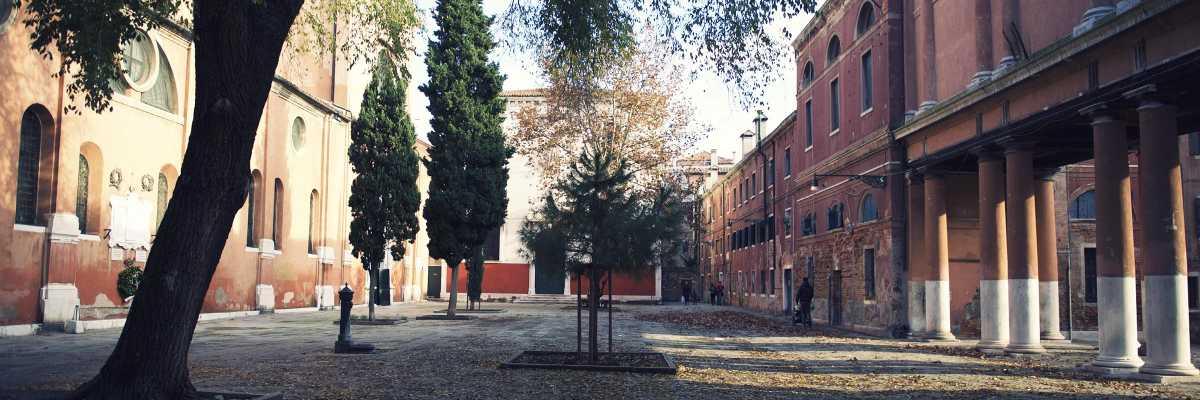 View of the field of San Francesco della Vigna. — (Archivio Venipedia/Bazzmann)