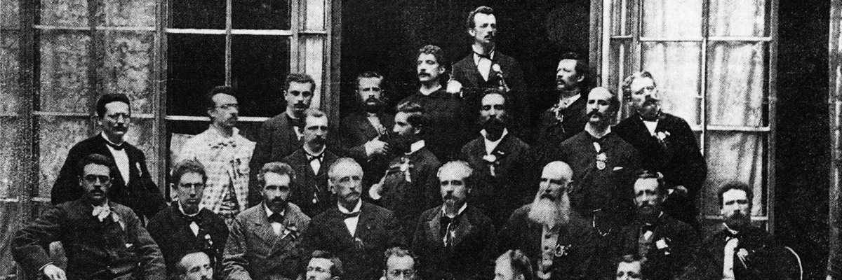 Italian delegation in Frankfurt (1880).